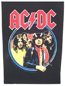 AC/DC Highway To Hell large sew-on back patch  (mm)